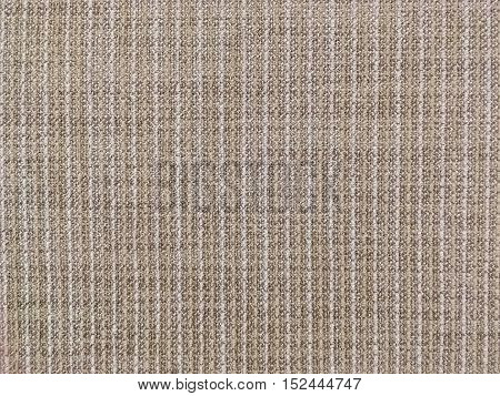 Closeup surface abstract fabric pattern at the brown fabric carpet at the floor of house texture background