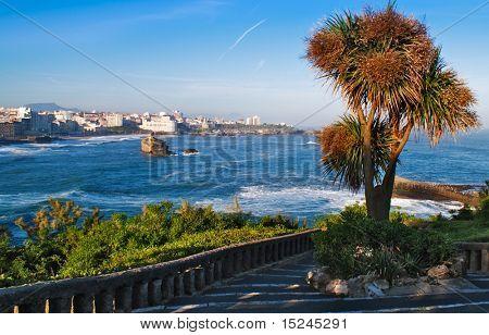 beautiful view, city, blue ocean
