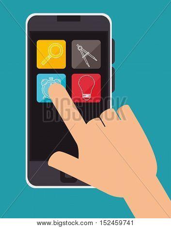 education online smartphone aplication design vector illustration