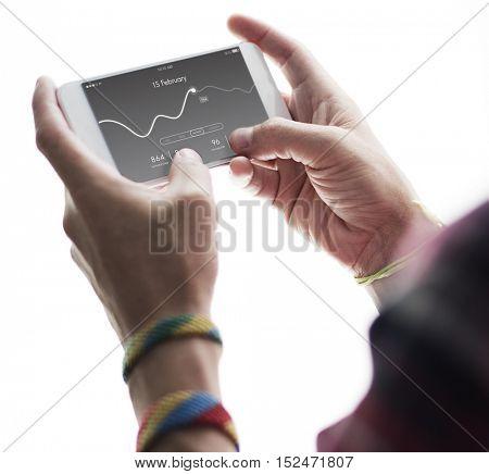 Application Usage Graph Chart Concept
