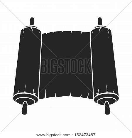 Tanakh icon in black style isolated on white background. Religion symbol vector illustration.