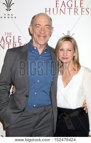 LOS ANGELES - OCT 18:  J. K. Simmons, Michelle Schumacher at the