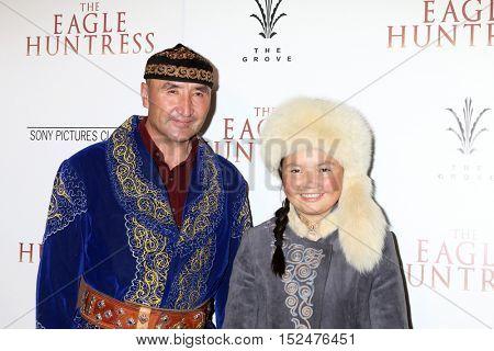 LOS ANGELES - OCT 18:  Nurgaiv Rys, Aisholpan Nurgaiv at the