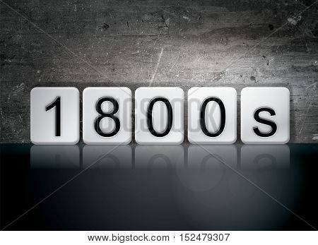 1800S Tiled Letters Concept And Theme
