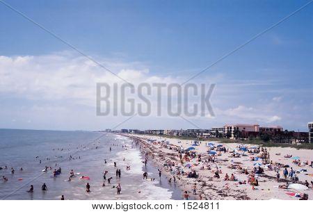 Beach At Cocoa Beach