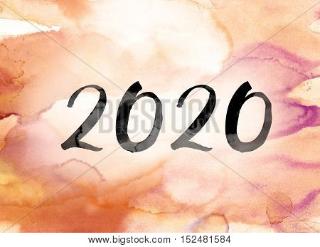 2020 Colorful Watercolor And Ink Word Art