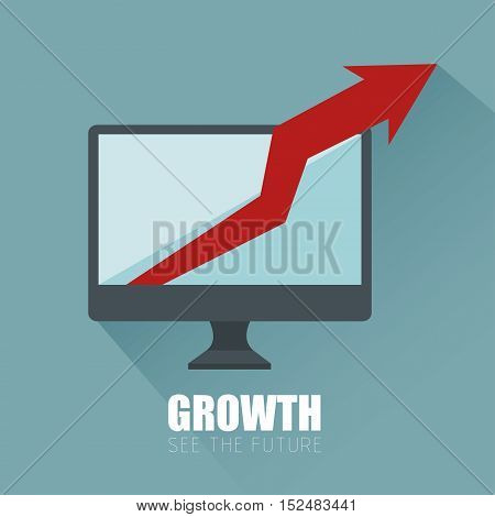 progress business growth arrow icon vector illustration eps 10