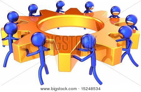 Business teamwork dream team abstract
