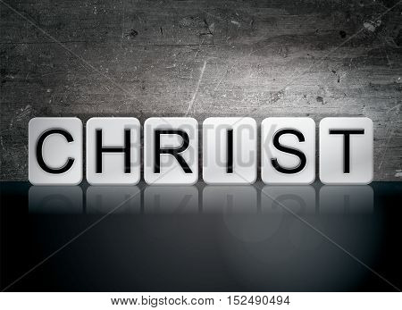 Christ Tiled Letters Concept And Theme