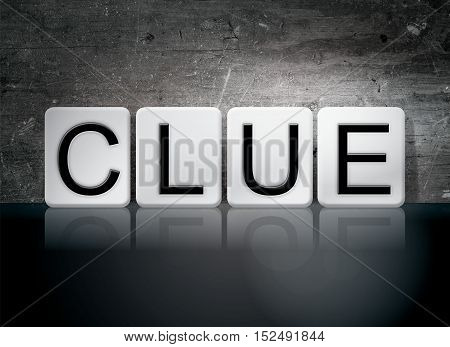 Clue Tiled Letters Concept And Theme