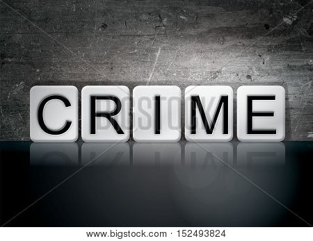 Crime Tiled Letters Concept And Theme