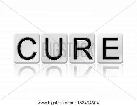 Cure Isolated Tiled Letters Concept And Theme