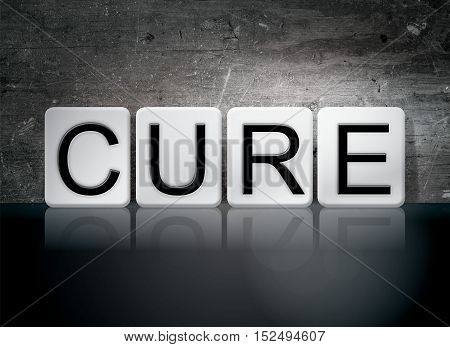 Cure Tiled Letters Concept And Theme