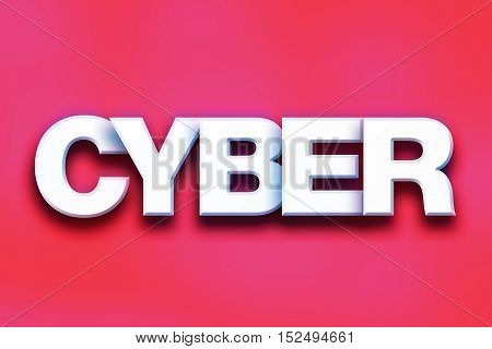 Cyber Concept Colorful Word Art