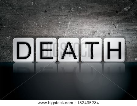 Death Tiled Letters Concept And Theme