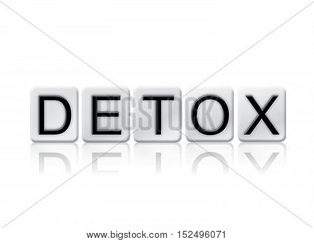Detox Isolated Tiled Letters Concept And Theme