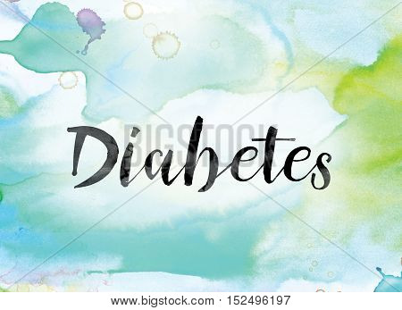 Diabetes Colorful Watercolor And Ink Word Art