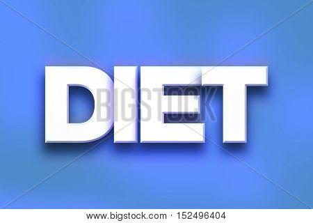 Diet Concept Colorful Word Art