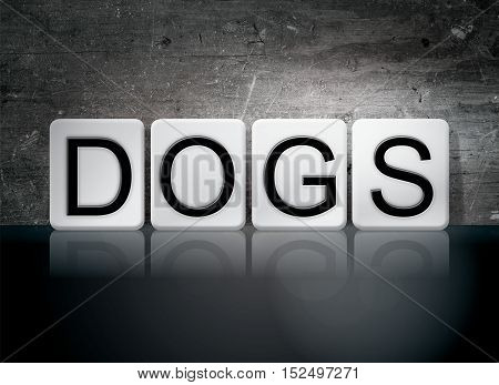 Dogs Tiled Letters Concept And Theme