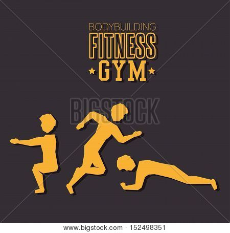 poster bodybuilding fitness gym design vector illustration esp 10