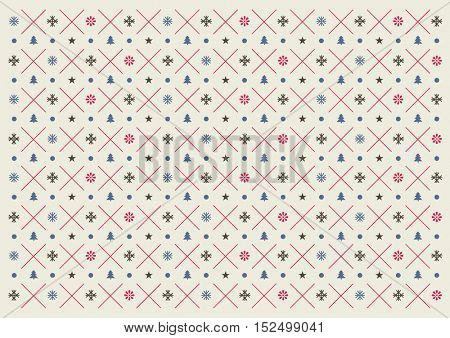 Vector of Christmas element and pattern