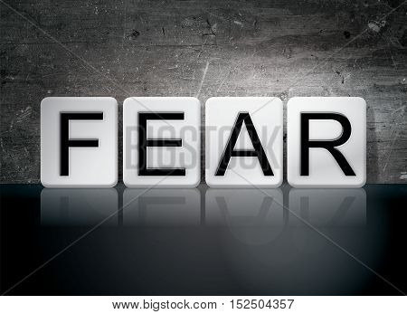 Fear Tiled Letters Concept And Theme