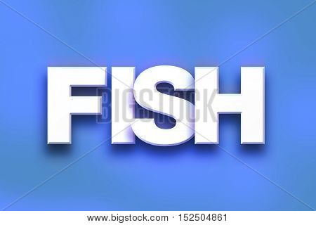 Fish Concept Colorful Word Art
