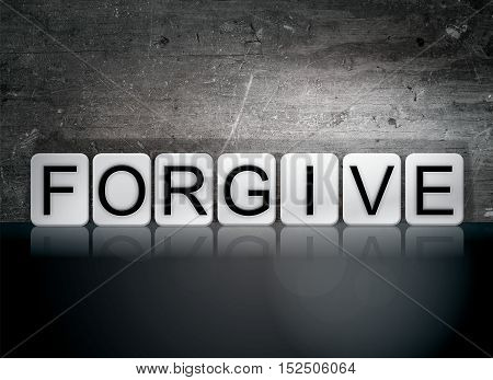 Forgive Tiled Letters Concept And Theme