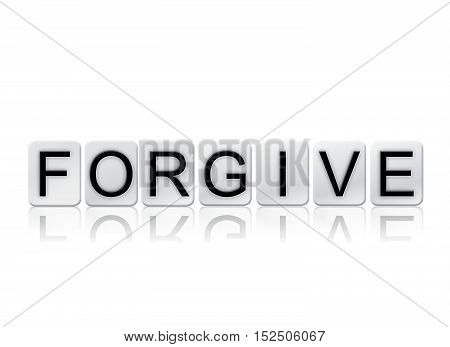 Forgive Isolated Tiled Letters Concept And Theme