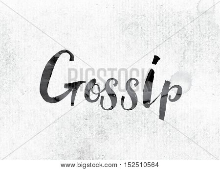 Gossip Concept Painted In Ink