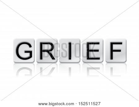 Grief Isolated Tiled Letters Concept And Theme