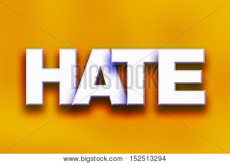 Hate Concept Colorful Word Art