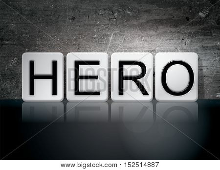 Hero Tiled Letters Concept And Theme