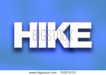Hike Concept Colorful Word Art