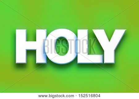 Holy Concept Colorful Word Art