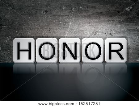 Honor Tiled Letters Concept And Theme