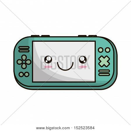 video game portable device vector illustration design
