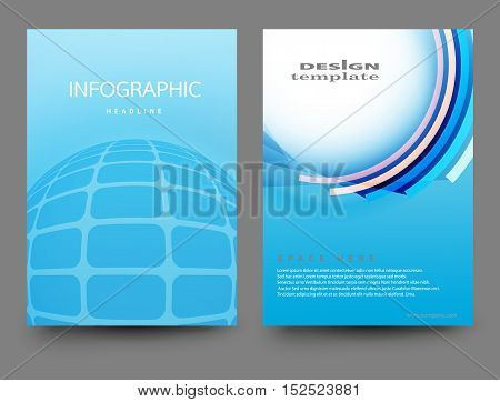 Brochure Design Template.Vector Flyer Design Layout Illustrations size A4. Front Page and Back Page.Business Leaflet design. Report Handout Vector. Infographics Design Template.
