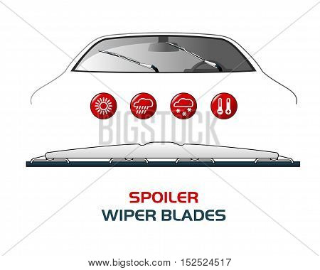 Vector Illustration Car Wiper Blades.