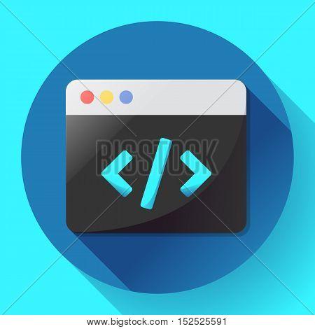 Coding icon vector flat program code icon app.
