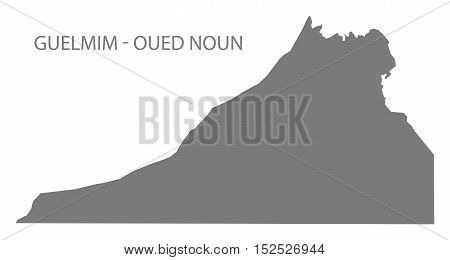 Guelmim - Oued Noun Morocco Map grey illustration high res