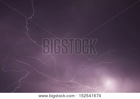 Lightning storm in the middle of the night.