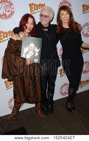 LOS ANGELES - OCT 17: Pamlea Des Barres, Michael Des Barres, Cassandra Peterson at the