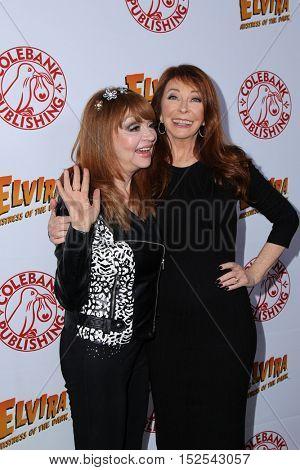 LOS ANGELES - OCT 17:  Judy Tenuta, Cassandra Peterson at the