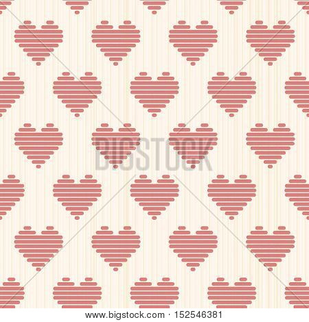 Bright Romantic Background With Hearts. Seamless.