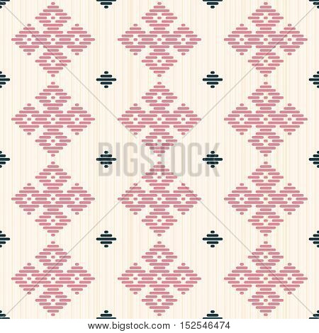Abstract Seamless Pattern. Kogin Embroidery Style.