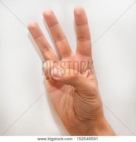 Number six in the American Sign Language (ASL) shown with one hand and a finger