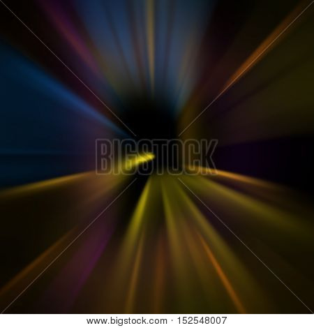 Dark abstract colorful zoom lines background