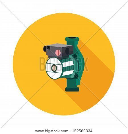 flat icon hydraulic pump in vector format eps10