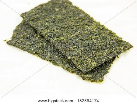 seaweed , dry seaweed on the white background